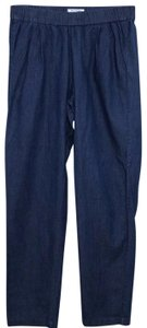 Equipment Hadleypant Chambray Pullon Anklepant Relaxed Pants blue