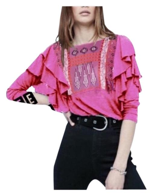 Item - La Cienga Wisteria Embroidered Blouse Size 6 (S)