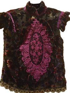 Costarellos Top Black mauve
