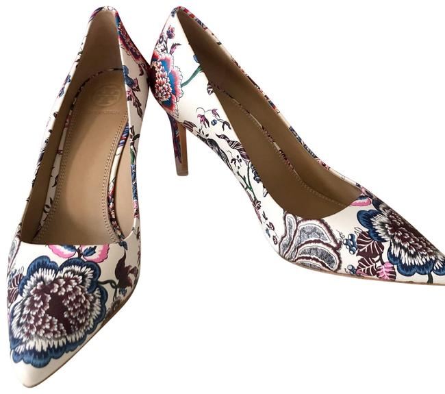 Item - New Ivory Happy Times Elana 85mm Printed Nappa Leather Pumps Size US 7 Regular (M, B)