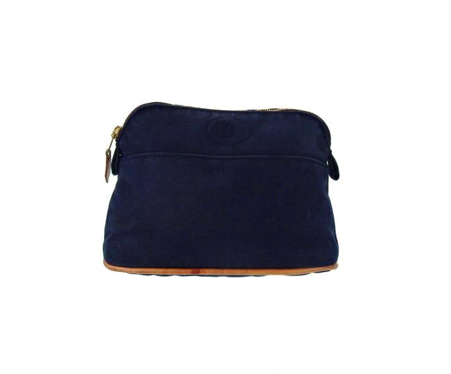 Item - Blue Bolide Mm Canvas Makeup Travel Dopp Extra Pouch France Cosmetic Bag