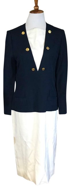 Item - Blue Adele Simpson For Saks Fifth Avenue Mid-length Work/Office Dress Size 8 (M)