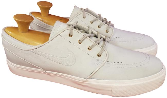 Item - Off White( Very Light Gray) Mint Zoom Air Janoski Genuine Leather Ostrich Sneakers Size US 13 Regular (M, B)