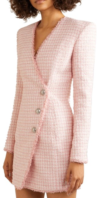 Item - Pink/White Tweed Pastel Fr34. Fits Xxs. Short Cocktail Dress Size 00 (XXS)