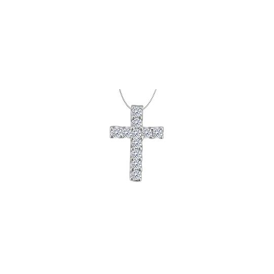 Preload https://img-static.tradesy.com/item/26747735/white-silver-cubic-zirconia-cross-of-religious-925-sterling-necklace-0-0-540-540.jpg