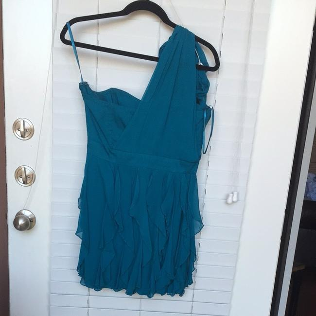 French Connection Wedding Blue One Shoulder Dress