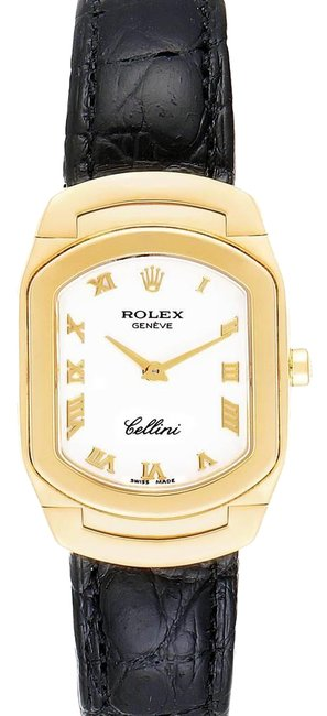 Rolex White Cellini Cellissima Yellow Dial Ladies 6631 Watch Rolex White Cellini Cellissima Yellow Dial Ladies 6631 Watch Image 1