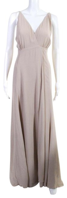 Item - Taupe Beige Gown Long Formal Dress Size 2 (XS)