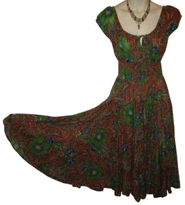 multi Maxi Dress by Chelsea & Theodore Cotton Summer Paisley Onm001