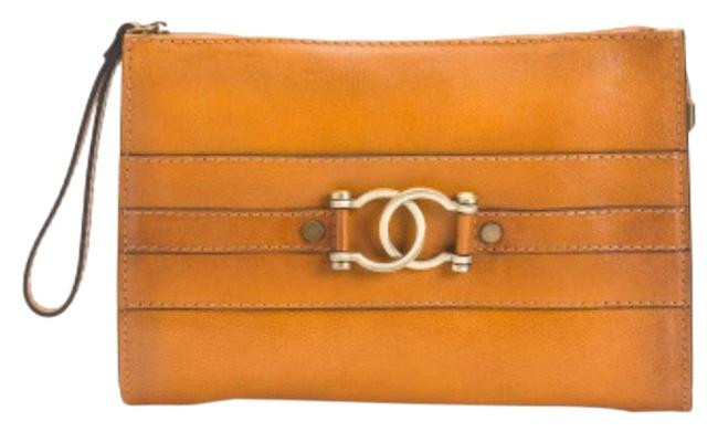 Pratesi New Made In Italy Cognac Leather Clutch Pratesi New Made In Italy Cognac Leather Clutch Image 1