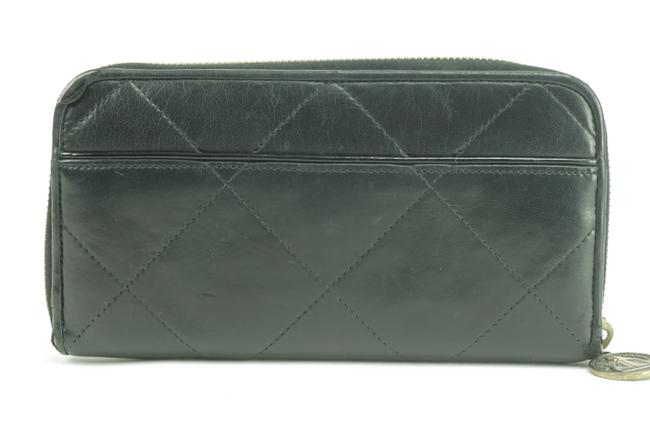 Item - Black Zippy Clutch Quilted Long Leather Zip Around 21lk0123 Wallet