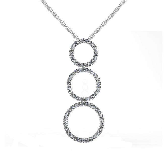 SB Diamond White 4.25 Ct. Round Graduated Circle Pendant Necklace SB Diamond White 4.25 Ct. Round Graduated Circle Pendant Necklace Image 1