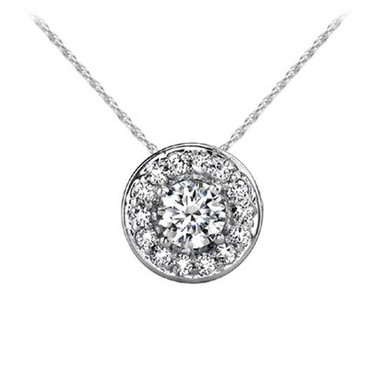 Preload https://img-static.tradesy.com/item/26748787/white-055-ct-round-accented-halo-pendant-necklace-0-0-540-540.jpg