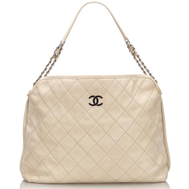 Item - Riviera French Quilted Ivory Suede Leather Hobo Bag