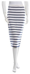 The Row Cashmere Nwt Skirt Cream W Navy Stripe