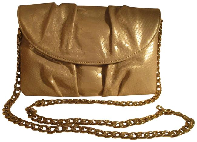 Beige Leather Clutches - Up to 90% off at Tradesy