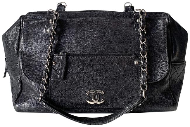 Chanel Classic Flap Pocket In The City Caviar Black Leather Shoulder Bag Chanel Classic Flap Pocket In The City Caviar Black Leather Shoulder Bag Image 1