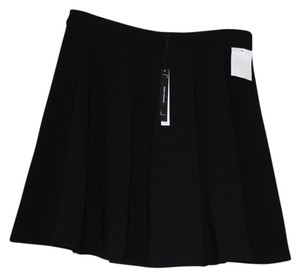 Robert Rodriguez Flare Pleated Panel Flare Mini Mini Skirt Black