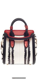 Alexander McQueen Satchel in red, white and black