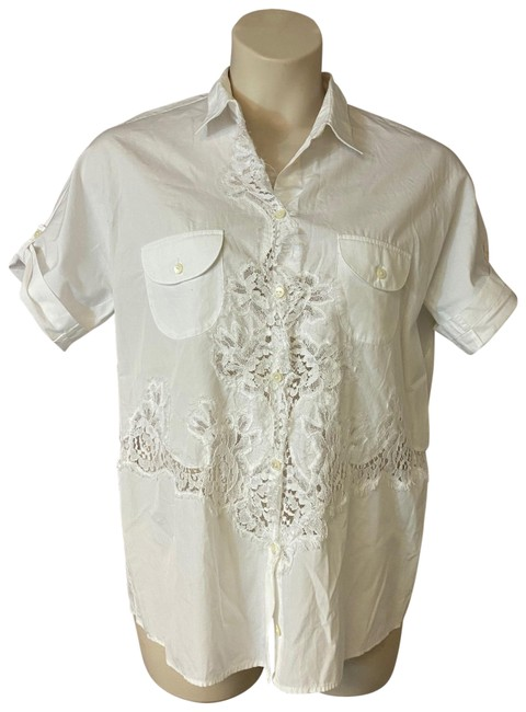 Preload https://img-static.tradesy.com/item/26749243/dolce-and-gabbana-white-lace-trim-cotton-blouse-46-button-down-top-size-12-l-0-1-650-650.jpg