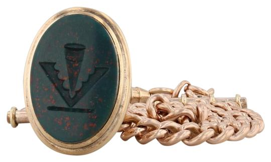 Preload https://img-static.tradesy.com/item/26749284/yellow-gold-victorian-chatelaine-watch-fob-14k-carved-green-bloodstone-chalcedony-0-1-540-540.jpg