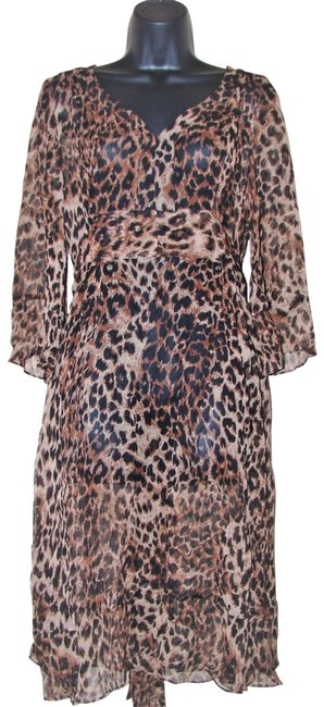 Item - Umber and Brown Hues Mid-length Cocktail Dress Size 10 (M)