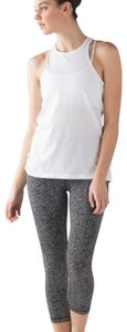 Lululemon Lululemon High Rise Black and White Print Wunder Under Crop Leggings