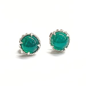 David Yurman GORGEOUS!! LIKE NEW CONDITION!! David Yurman Chatelaine Green Onyx Earrings