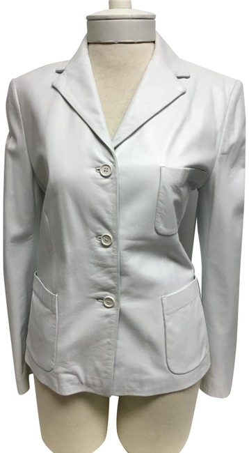 Item - White With Patch Jacket Size 6 (S)