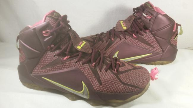 Item - Pink Purple Green Lebron James 2014 Double Helix Xii Sneaker 10.5 Shoes