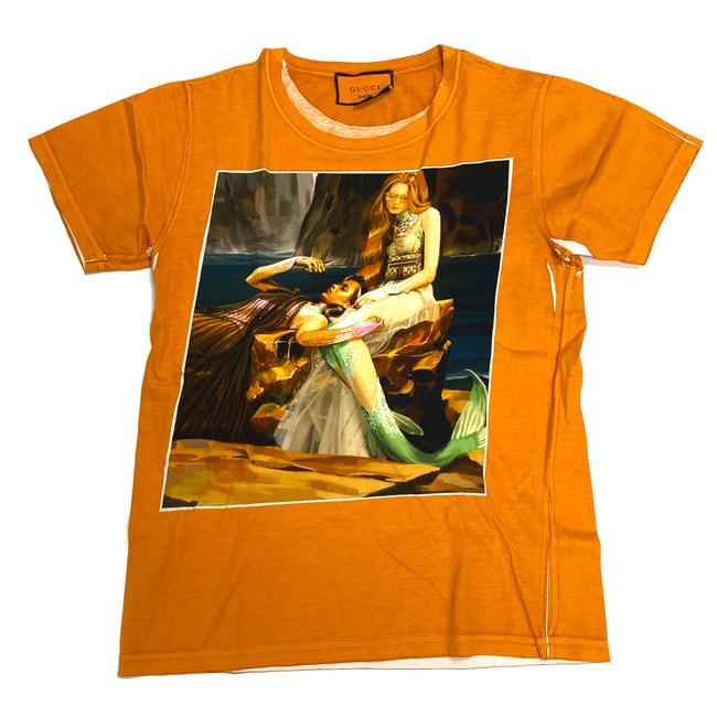 Gucci Orange Hallucination Out 200 Runway Limited Edition Tee Shirt Size 0 (XS) Gucci Orange Hallucination Out 200 Runway Limited Edition Tee Shirt Size 0 (XS) Image 1