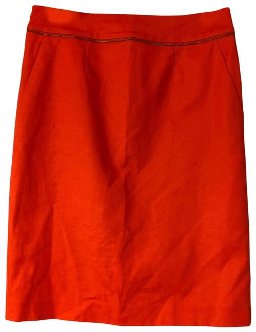 Item - Scarlet Red Stretch Cotton Pencil Skirt Size 4 (S, 27)
