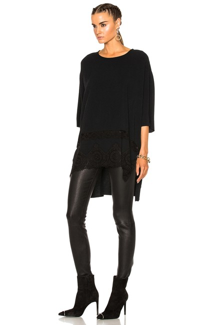Preload https://img-static.tradesy.com/item/26751935/faith-connexion-black-oversize-high-low-crepe-blouse-size-2-xs-0-3-650-650.jpg