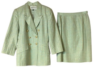 Albert Nipon ALBERT NIPON EVENING LIGHT GREEN SKIRT SUIT 6