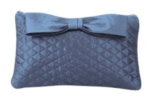 Dessy Taffeta Quilted Blue Clutch