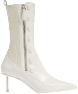Alexander McQueen Ankle Stiletto Pointed Toe Ivory Boots