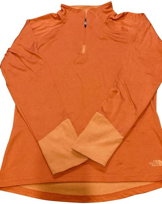 The North Face Tangerine Vaporwick 1/4 Activewear Top Size 8 (M) The North Face Tangerine Vaporwick 1/4 Activewear Top Size 8 (M) Image 1