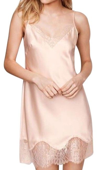 Item - Ivory Chantilly Dream Angels Satin & Lace Slip Babydoll Mid-length Night Out Dress Size 8 (M)
