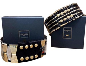 Balmain x H&M limited edition wide waist band metal