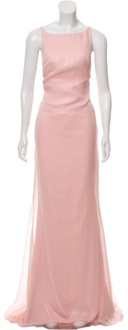 Item - Pink Sleeveless Maxi Gown Long Cocktail Dress Size 8 (M)