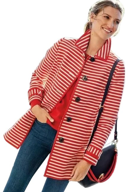 Item - Red and White Constance Stripe Coat Size 6 (S)