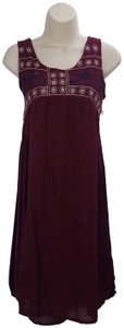 Cupio short dress Plum Midi Bohemian Nordstrom on Tradesy