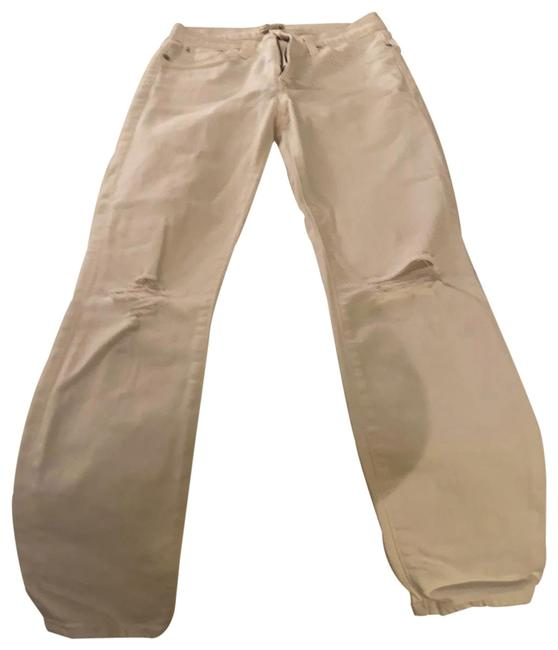 Item - White Distressed Lookout High Rise Skinny Jeans Size 4 (S, 27)