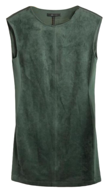Item - Green Faux Suede Short Night Out Dress Size 4 (S)