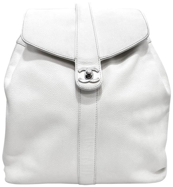 Item - Vintage Caviar White Leather Backpack