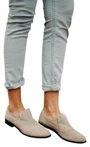Free People Loafer Leather Taupe Flats