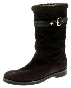 Louis Vuitton Embroidered Suede Brown Boots