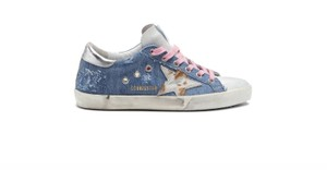 Golden Goose Deluxe Brand Blue/Silver Athletic
