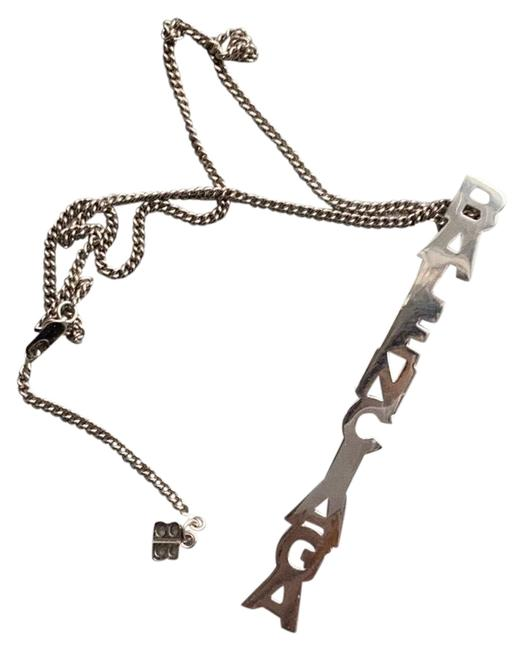 Item - Silver Vertical Typo Necklace