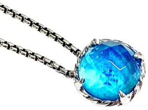 David Yurman GORGEOUS!! David Yurman Blue Topaz Chatelaine Necklace